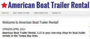 tampa bay boat trailer rental
